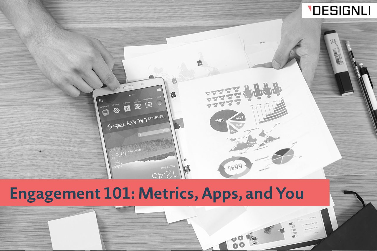 What are the most common mobile app engagement metrics and KPIs?