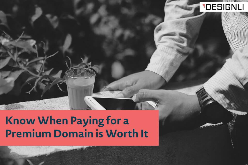 paying for a premium domain