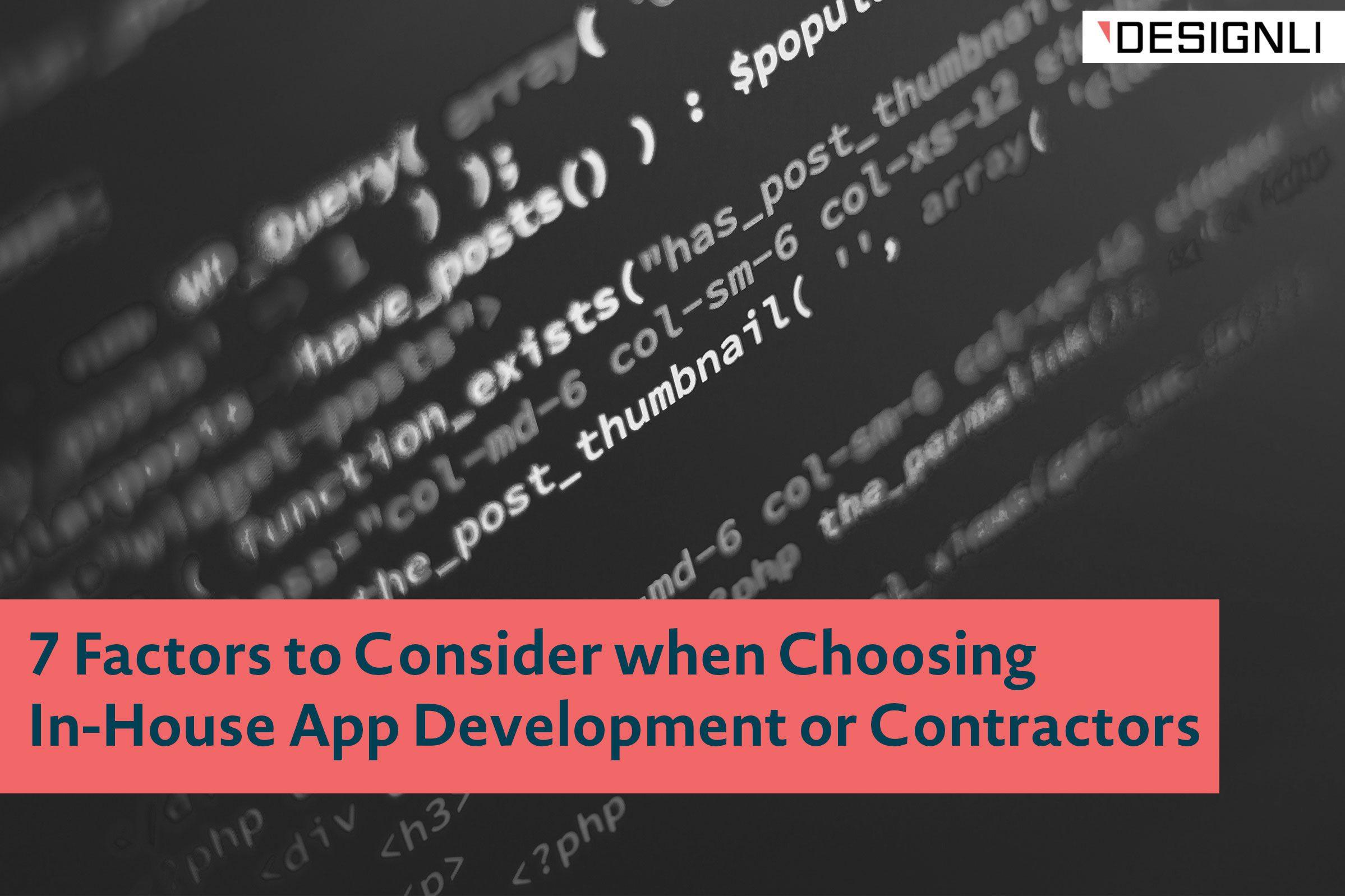 in-house app development vs. outsource