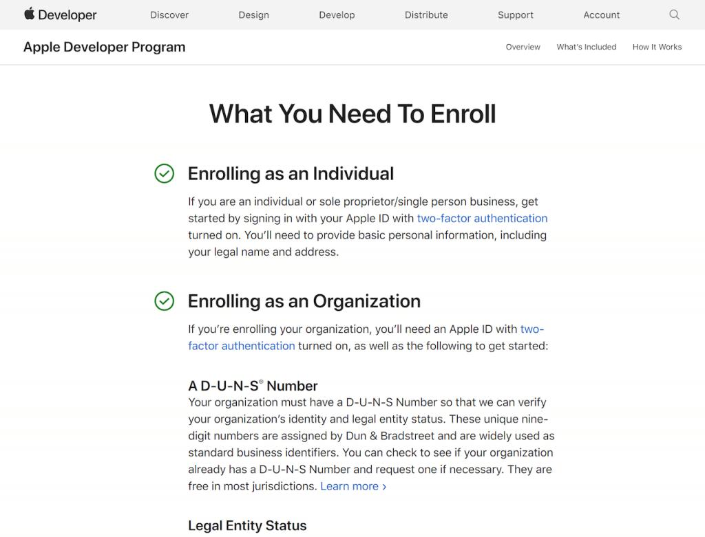 Enroll in the app developer program